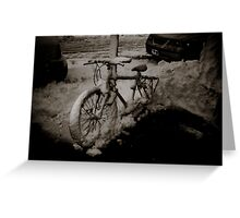 Snow Bike Greeting Card