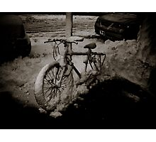 Snow Bike Photographic Print