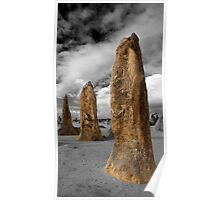The Pinnacles - Selective Color Poster