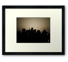 Manhattan Skyline Central Park Framed Print