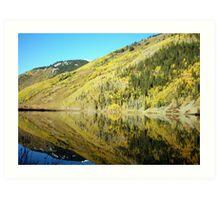 Mirror Mountain Lake Art Print