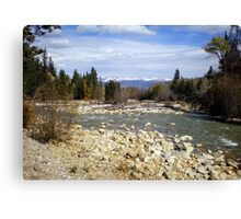 Distant Snow Capped Mountains Canvas Print