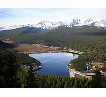 Colorado Lake Surrounded by Snow Capped Mountains Photographic Print