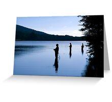 Fishing at Daybreak Greeting Card