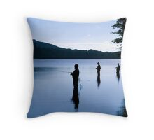 Fishing at Daybreak Throw Pillow