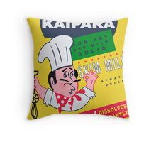 Kaipara Dairy Co-op Chef Card Throw Pillow