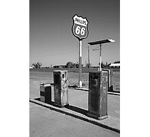 Route 66 Gas Pumps Photographic Print
