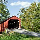 Lancaster County Covered Bridge by Delmas Lehman
