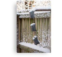 Snowy Fence Metal Print