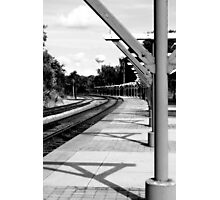 Waiting on a Train In a Southern Town Photographic Print