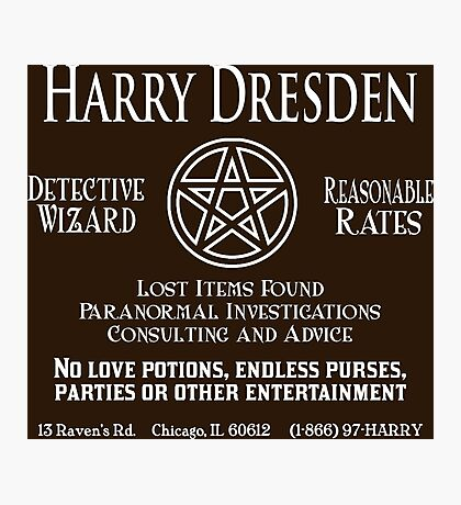 Harry Dresden - Wizard Detective Photographic Print