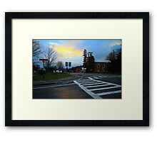 Sunset on John Fountain RD Framed Print