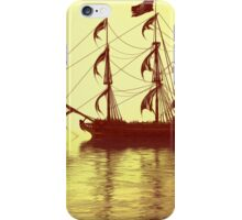 The Pirate Ship And The Sunset iPhone Case/Skin