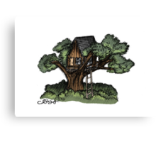 Dreaming of Tree Houses Canvas Print