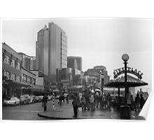 Pike Place (b&w) Poster