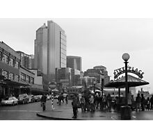 Pike Place (b&w) Photographic Print