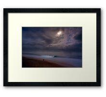 Moon Over Pipeline Framed Print