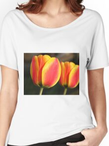 Red and Orange Tulips Women's Relaxed Fit T-Shirt