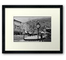 O'Clock (b&w) Framed Print