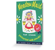 Kaipara Dairy Co-op Meadow Maid Card  Greeting Card