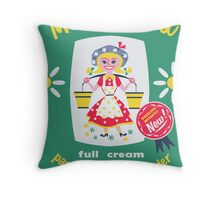 Kaipara Dairy Co-op Meadow Maid Card  Throw Pillow