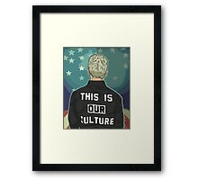 Pete Wentz - THIS IS OUR CULTURE Framed Print
