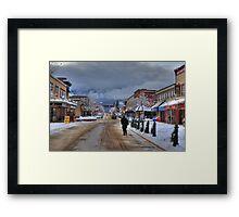 Walk the street Framed Print