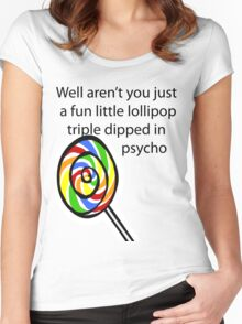 Lollipop Psycho Women's Fitted Scoop T-Shirt