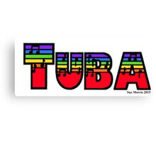 Tuba Rainbow Canvas Print