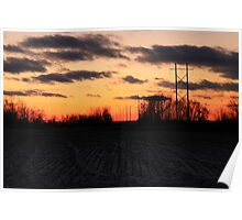 Sunset Poles Poster