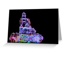 Colored Pencil Ice Castle Greeting Card