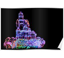 Colored Pencil Ice Castle Poster