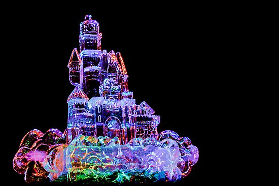 Colored Pencil Ice Castle by Owed To Nature