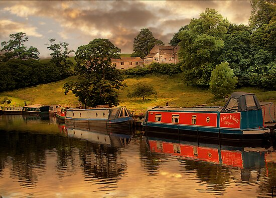 The Canal at East Marton . by Irene  Burdell