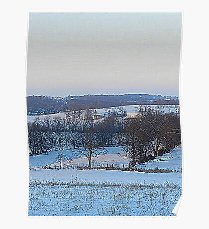 At Dusk the Snow Turns Blue Like the Distant Hills Poster