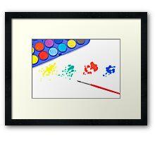 Color splashes Framed Print