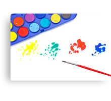 Color splashes Canvas Print