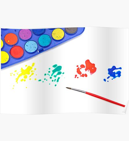 Color splashes Poster