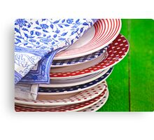 colorful plates Canvas Print