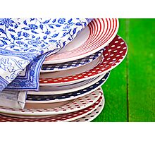 colorful plates Photographic Print