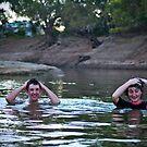 Having a swim... by Anna Ryan
