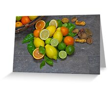 citrus fruits Greeting Card
