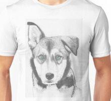 Husky Shepherd Cross with Blue Eyes Unisex T-Shirt