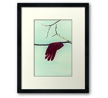 red glove Framed Print