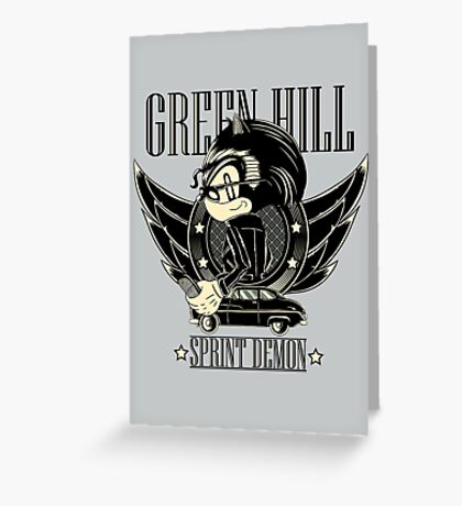Green Hill Sprint Demon - Prints, Stickers, iPhone and iPad Cases Greeting Card