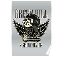 Green Hill Sprint Demon - Prints, Stickers, iPhone and iPad Cases Poster