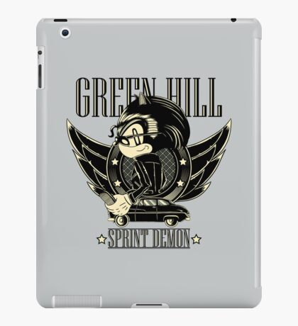 Green Hill Sprint Demon - Prints, Stickers, iPhone and iPad Cases iPad Case/Skin