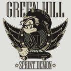 Green Hill Sprint Demon by monochromefrog