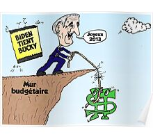 BIDEN tient Bucky au mur budgétaire Poster