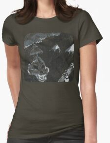 Skeleton Dude Playing Guitar Womens Fitted T-Shirt